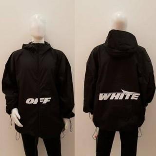 オフホワイト(OFF-WHITE)のoff-white パーカー ウインドブレイカー(ナイロンジャケット)