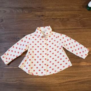 エフオーキッズ(F.O.KIDS)のりんごドット長袖シャツ(シャツ/カットソー)