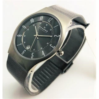 スカーゲン(SKAGEN)のSkagen★メンズ腕時計メッシュベルト★ブラック★チタニウム★233XLTTM(腕時計)
