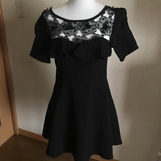 スワンキー(swanky)の試着のみ 美品 swanky ワンピース ブラック ドレス スワンキー(ひざ丈ワンピース)