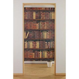 ☆のれん 「BOOK SHELF」 日本製 新品 約幅85×丈150cm(のれん)