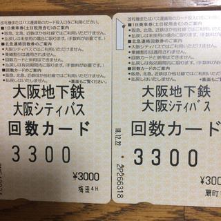 大阪地下鉄回数カード(鉄道乗車券)