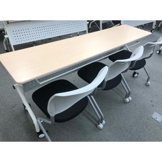オフィス家具 テーブルと椅子3脚のセット 3/28まで限定出品中(オフィス/パソコンデスク)