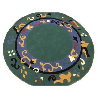 ベルギー製 ウィルトン織 190cm PP 円形(ラグ)