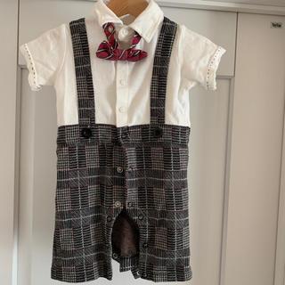 フォーマル ロンパース 半袖 蝶ネクタイ付 70cm(ドレス/フォーマル)