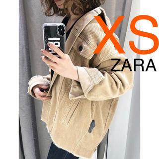 ZARA - ZARA 正規品 新品 コーデュロイジャケットXSサイズ サンド 人気 完売商品