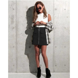 ANAP - 台形スカート(ブラック)