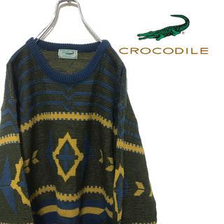 クロコダイル(Crocodile)のビンテージ 古着 CROCODILE クロコダイル ニット セーター オルテガ(ニット/セーター)