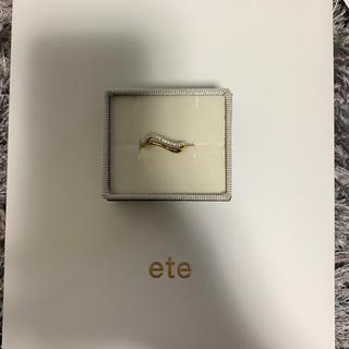エテ(ete)のete ビジューリングカフ(リング(指輪))