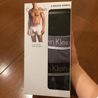 カルバンクライン(Calvin Klein)のカルバンクライン メンズ 下着 新品 グレー ブラック L 新品 ボクサーパンツ(ボクサーパンツ)