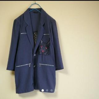 イタリヤ(伊太利屋)の90's  伊太利屋 刺繍猫 プルオーバー スプリングコート(スプリングコート)