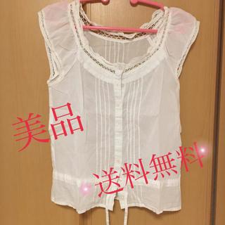 ジャイロホワイト(JAYRO White)のシャツレディース ブラウス 白 ジャイロホワイト ファッション 夏(シャツ/ブラウス(半袖/袖なし))