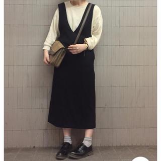 GU - gu ジャンパースカート ブラック XL