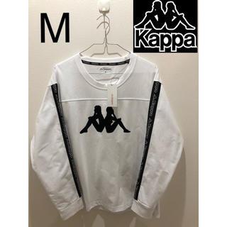 Kappa カッパ ロンT 厚手 サイドロゴ デカロゴ 白黒 M