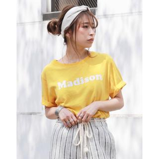 アングリッド(Ungrid)の◆ungrid◆新品◆イエロー tee(Tシャツ(半袖/袖なし))