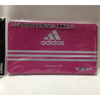 アディダス(adidas)のアディダス adidas 色鉛筆  12色セット 三菱鉛筆 丸軸 ケース:ピンク(色鉛筆)
