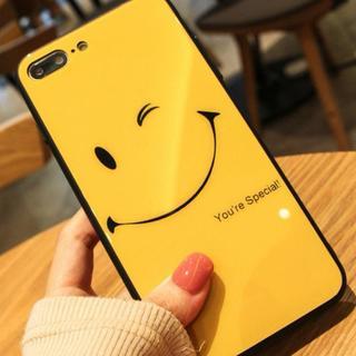 【バカ売れ!】 iphone7/8ケース スマイル イエロー(スマホケース)