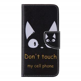 【新品】iPhone7 ケース 手帳型 猫 ストラップホール付きスタンド機能付き(スマホケース)