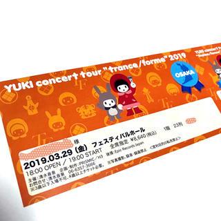 YUKI コンサートチケット 1枚 3月29日(金)大阪フェスティバルホール(国内アーティスト)