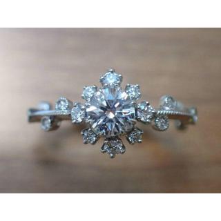 AbHeri アベリ Pt 雪の結晶 ダイヤモンド エンゲージ リング yosh(リング(指輪))