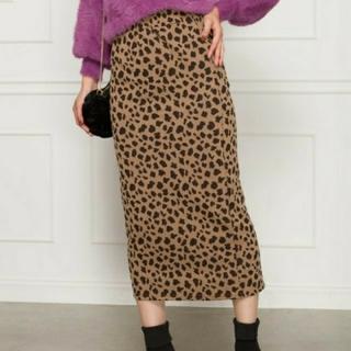 スプレイ(SpRay)のSpRay スプレイ ヒョウ柄ジャガードタイトスカート(ひざ丈スカート)