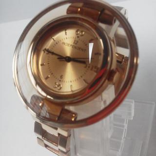 インディペンデント(INDEPENDENT)の稼働中シチズン美品INDEPENDENTインディペンデント円盤時計ピンクゴールド(腕時計)