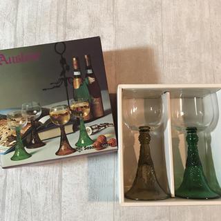 トウヨウササキガラス(東洋佐々木ガラス)の☆昭和レトロ Sasaki Glass アウスレーゼ ワイングラス(グラス/カップ)