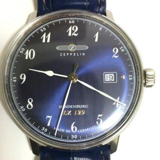 ツェッペリン(ZEPPELIN)のZEPPELIN 腕時計 Hindenburg ネイビー文字盤 7046-3(腕時計(アナログ))