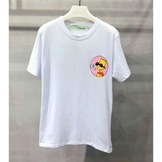 オフホワイト(OFF-WHITE)の正規品 新品 OFF- WHITE 19 Tシャツ サイズL 白(Tシャツ/カットソー(半袖/袖なし))