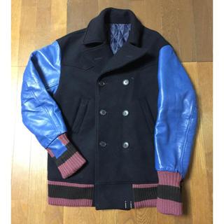 シャンティ(SHANTii)の日本製 SHANTii Lサイズ Pコート スタジャン ジャケット 袖革(ピーコート)