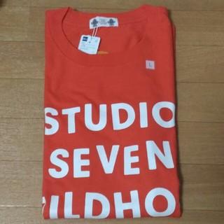 ジーユー(GU)のGU StudioSeven ヘビーウェイトビッグT オレンジ(L)(Tシャツ/カットソー(半袖/袖なし))