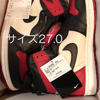 NIKE - NIKE AIR JORDAN1 RETRO HIGH OG BRED TOE