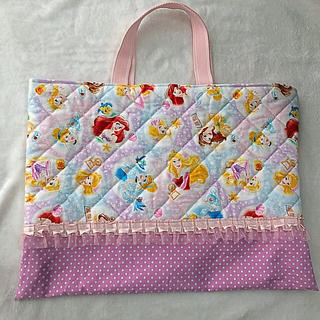 ディズニー(Disney)の入園・入学♡プリンセス レッスンバッグ♡(バッグ/レッスンバッグ)