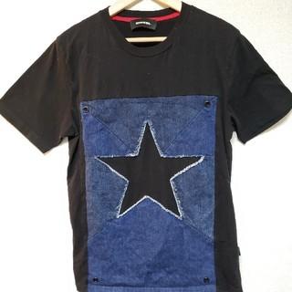 DIESEL - DIESEL デニムロゴ Tシャツ S