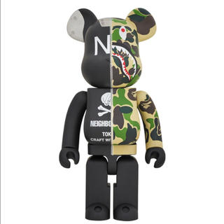 MEDICOM TOY - ベアブリック A BATHING APE NEIGHBORHOOD 1000%