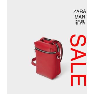 ZARA - ZARA MAN レッドミニクロスボディーバック