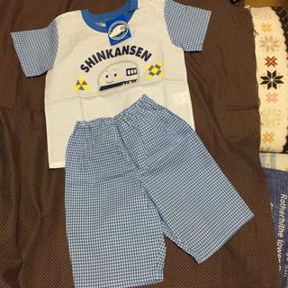 サンリオ(サンリオ)のSanrio SHINKANSEN 半袖半ズボンパジャマ 110㌢ 難あり(パジャマ)