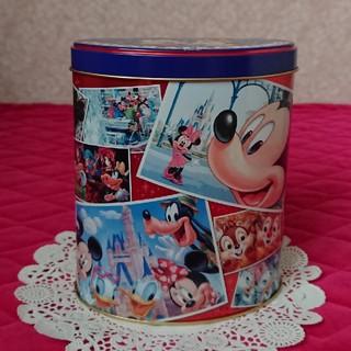 ディズニー(Disney)のディズニー  蓋付き 空缶 (小物入れ)