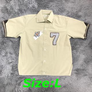 GU - 【新品】 オープンカラービッグシャツ(5分袖)STUDIO SEVEN