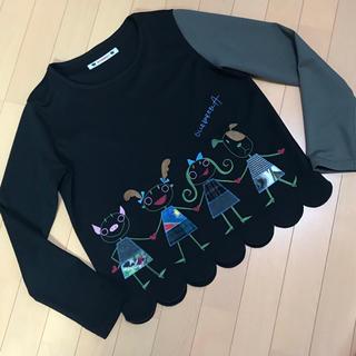 アルベロ(ALBERO)の❤️日曜日お値下げ❤️アルベロベロ  ✨スカラップの裾が可愛い 黒トップス (カットソー(長袖/七分))