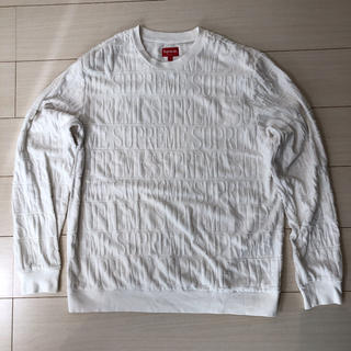 Supreme - Lサイズ Supreme Logo Stripe Terry Crewneck