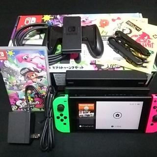 Nintendo Switch - 【ソフトあり】美品 スイッチ 本体 Joy-con スプラトゥーン2