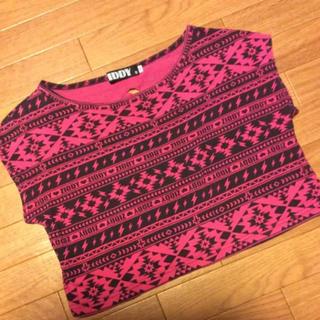ジディー(ZIDDY)のZIDDY オルテガ ネイティブ ショート丈 Tシャツ 背中開き ジディ(Tシャツ/カットソー)