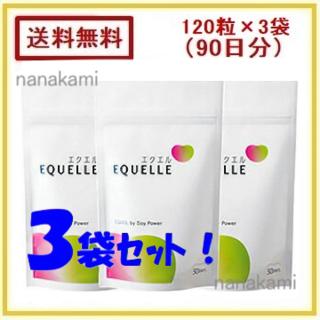 新品・送料無料 3袋セット(90日分)エクエル パウチ 大塚製薬!(その他)