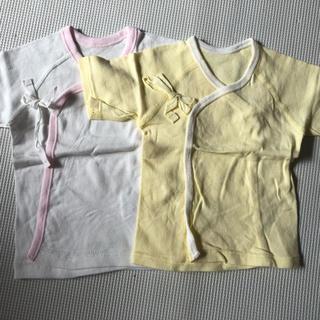 ニシマツヤ(西松屋)の【新品・未使用】新生児 短肌着 2枚セット (肌着/下着)