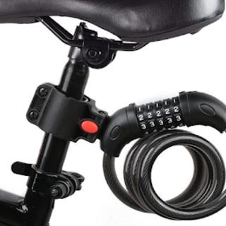 売れてます☆バイク ダイヤルロック ワイヤーロック 自転車ロック