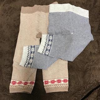 ムジルシリョウヒン(MUJI (無印良品))の無印良品 赤ちゃん レギンス 90-100 2枚セット(パンツ/スパッツ)