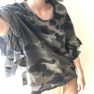 ザラ(ZARA)のZARA ザラ カモフラ 迷彩 Tシャツ S 美品(Tシャツ(半袖/袖なし))