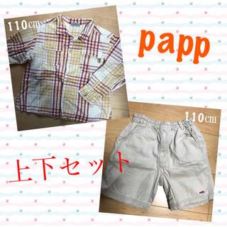 パプ(papp)の🌸papp🌸上下セット🌸110㎝(Tシャツ/カットソー)