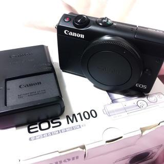 Canon - Canon EOS M100 標準ズームレンズ ミラーレス 一眼レフ カメラ